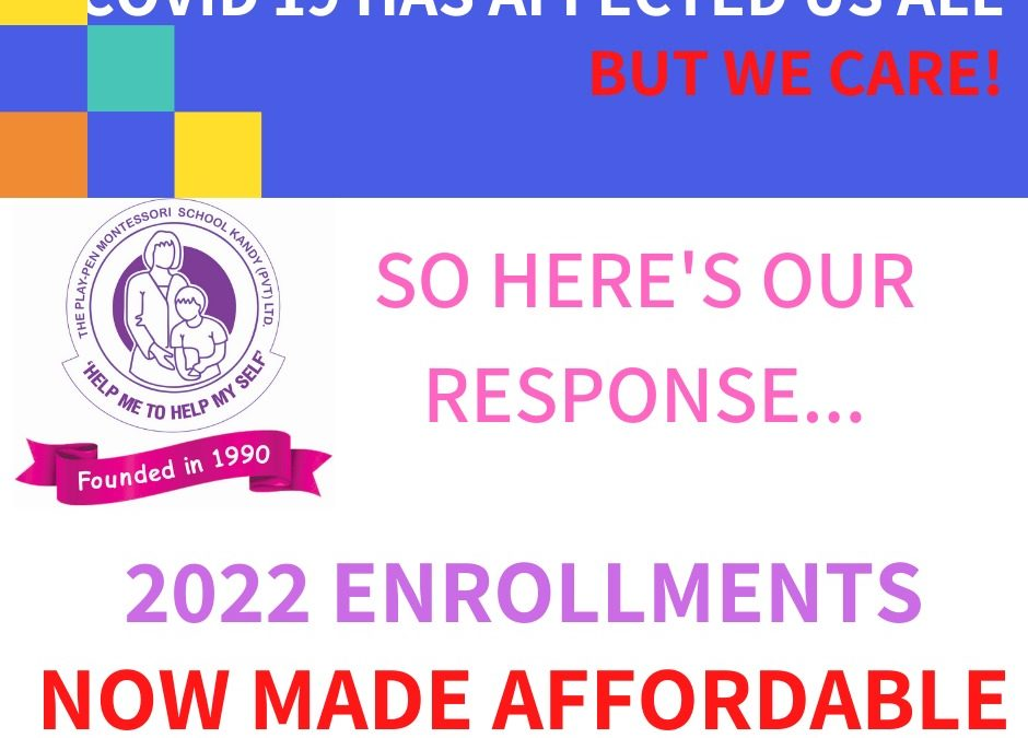 New Enrolments 2022 – Now Made Affordable!